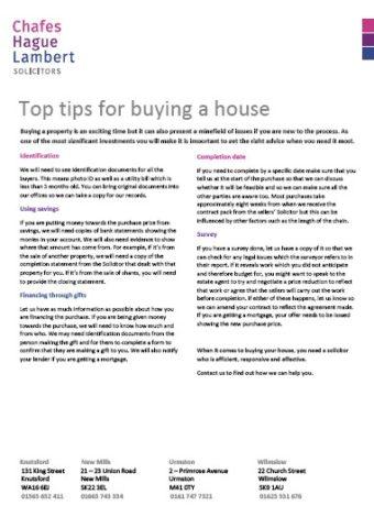buy a house fs