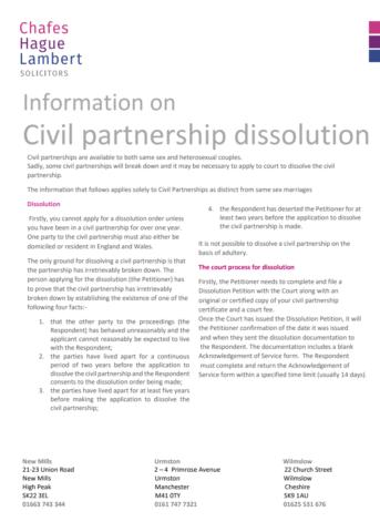Civil partnership cover