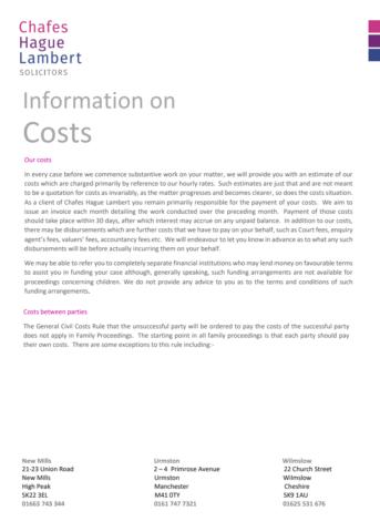 Costs coverdocx
