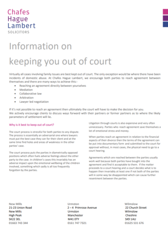 Keeping you out of court cover